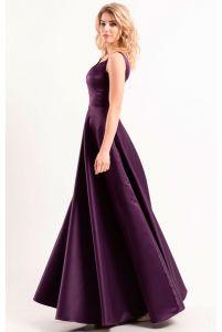 Атласное платье вечернее фото