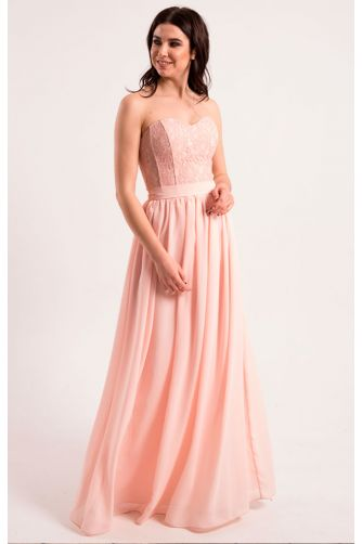Нежно розовое платье на корсете в Киеве - Фото 1