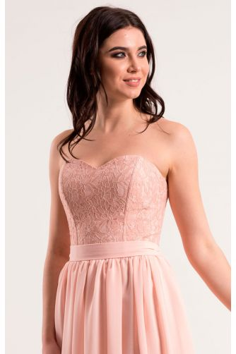 Нежно розовое платье на корсете в Киеве - Фото 2