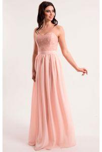 Нежно розовое платье на корсете фото