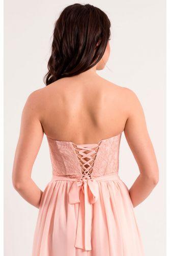 Нежно розовое платье на корсете в Киеве - Фото 4