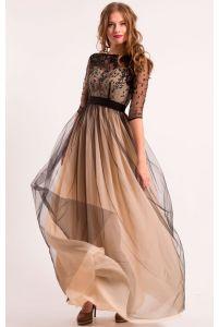 Нежное черное вечернее платье фото