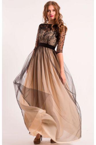 740f6f33604 Нежное черное вечернее платье купить в Киеве - цена