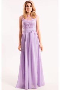 Нежное сиреневое вечернее платье фото