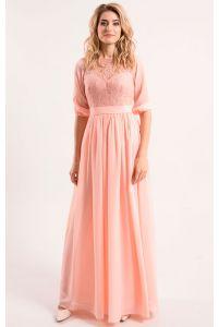 Розовое вечернее платье фото