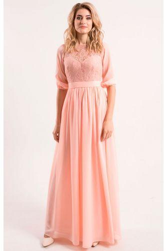 Розовое вечернее платье в Киеве - Фото 1
