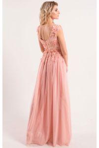 Шикарное вечернее платье с открытой спиной фото