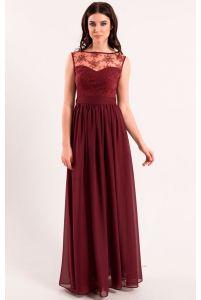 Вечернее платье цвета марсала фото