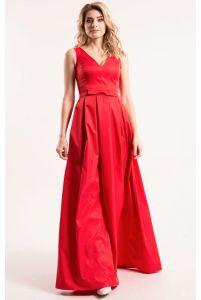 Вечернее платье красное с декольте фото