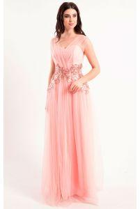 Вечернее платье с цветами фото