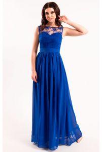 Вечернее платье с кружевом на корсете фото