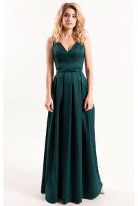 Вечернее платье трапеция с декольте фото