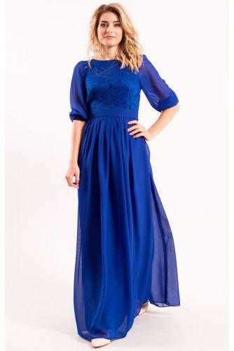 Платье длинное закрытое синее в Киеве - Фото 1