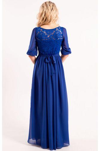 Платье длинное закрытое синее в Киеве - Фото 3