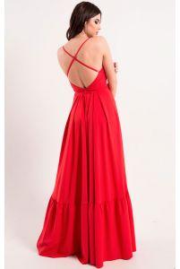 Платье в пол с открытой спиной фото
