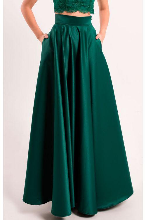 355589e9798 Атласная юбка солнце изумруд купить в Киеве - цена