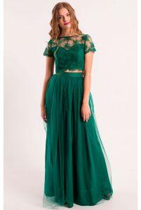 Длинная юбка с сеткой фото