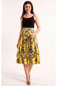 Яркая льняная юбка фото
