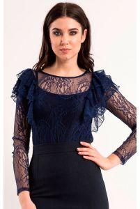 Стильная блуза кружевная фото