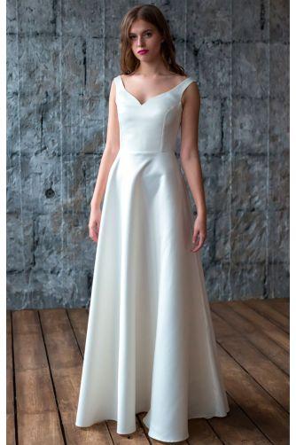 Атласное свадебное платье в Киеве - Фото 1