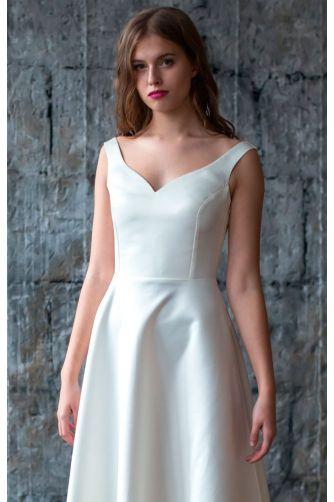 Атласное свадебное платье в Киеве - Фото 2