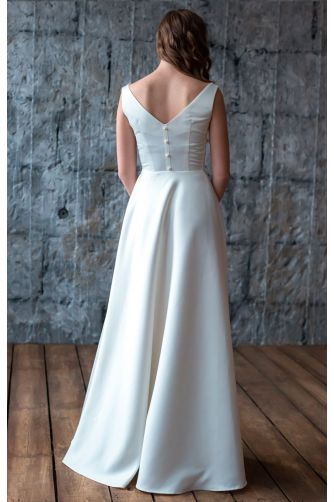 Атласное свадебное платье в Киеве - Фото 3