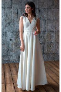 Платье А силуэта свадебное фото