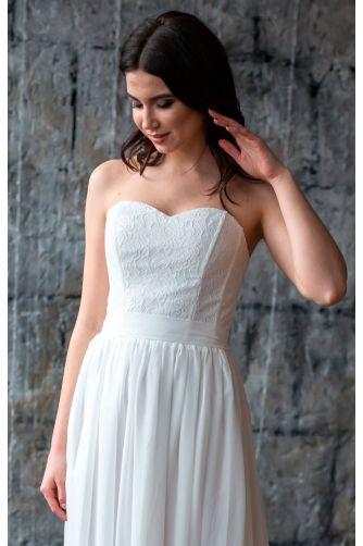 Простое свадебное платье в Киеве - Фото 2