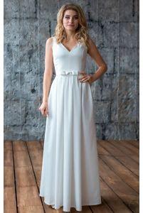 Прямое свадебное платье фото
