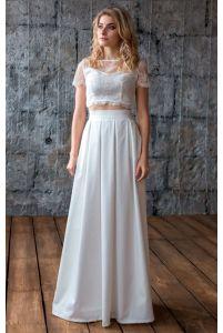 Стильное свадебное платье фото