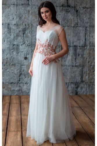 Свадебное платье с цветами в Киеве - Фото 1