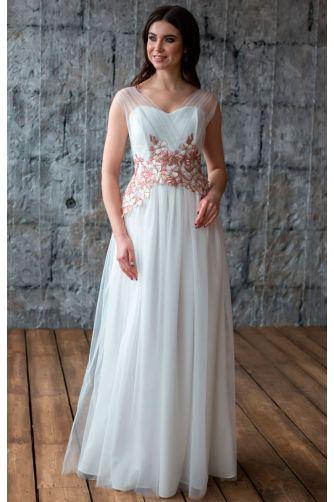 Свадебное платье с цветами в Киеве - Фото 3