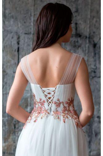 Свадебное платье с цветами в Киеве - Фото 4