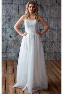 Свадебное платье с корсетом фото