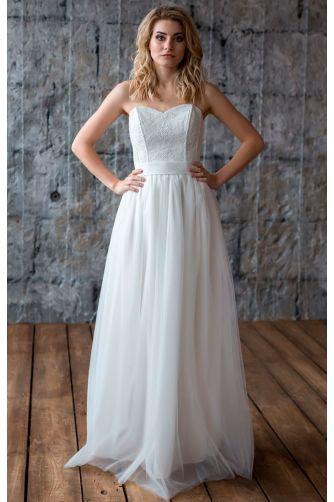 Свадебное платье с корсетом в Киеве - Фото 1