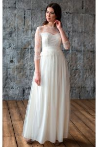 Свадебное платье с кружевом фото