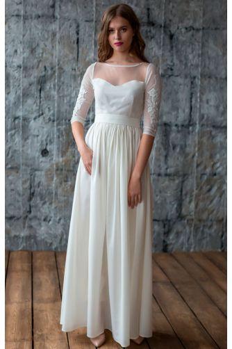Свадебное платье с вышитым рукавом в Киеве - Фото 1