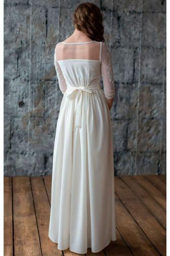 Свадебное платье с вышитым рукавом в Киеве - Фото 3