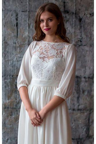 Закрытое свадебное платье в Киеве - Фото 2