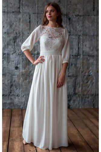 Закрытое свадебное платье в Киеве - Фото 3