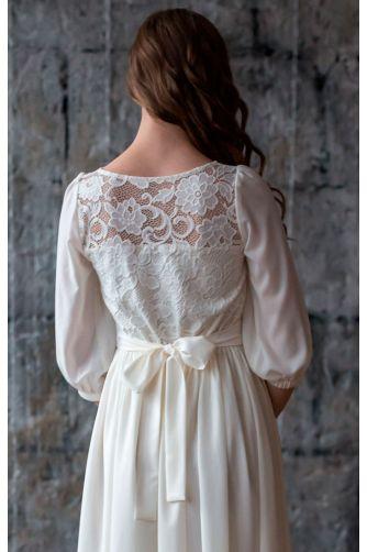 Закрытое свадебное платье в Киеве - Фото 5