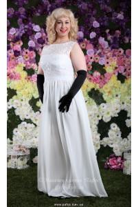 Белое платье большого размера фото