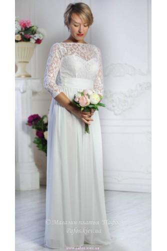 Белое платье с рукавом в Киеве - Фото 1