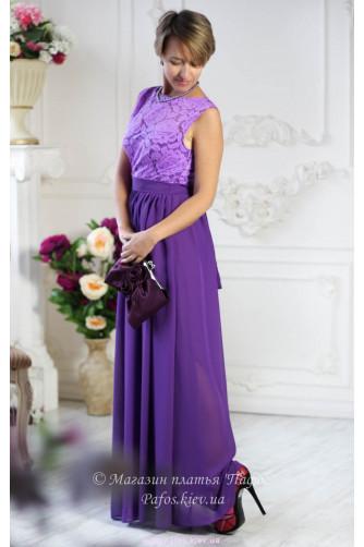Фиолетовое платье с кружевом в Киеве - Фото 3