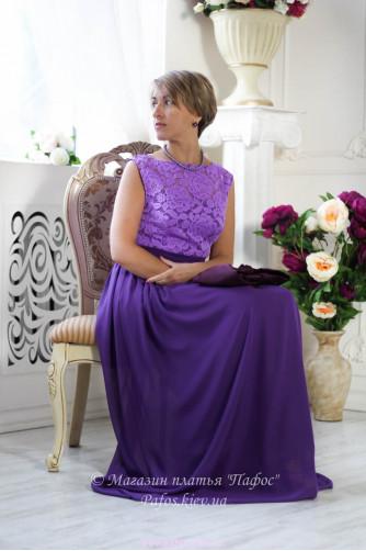 Фиолетовое платье с кружевом в Киеве - Фото 4