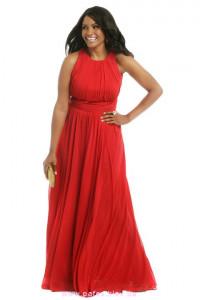 Красное платье большого размера фото