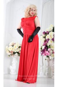 Платье в пол для полных фото