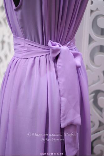 Фиолетовое платье с брошью в Киеве - Фото 4