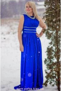 Синее платье большого размера фото
