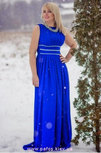 Синее платье большого размера в Киеве - Фото 1